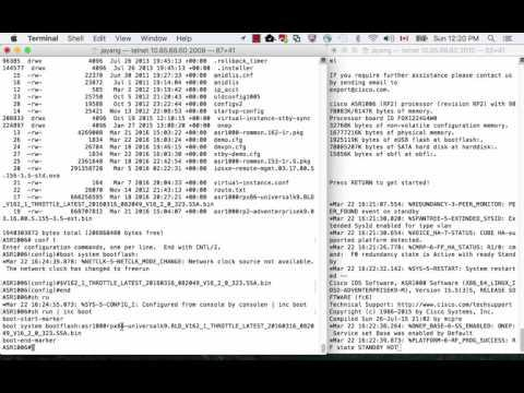IOS XE 3.x To 16.2 Migration On ASR 1000 Part 2 - Upgrade Procedure On RP2
