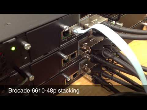 Brocade 6610-48p Stacking