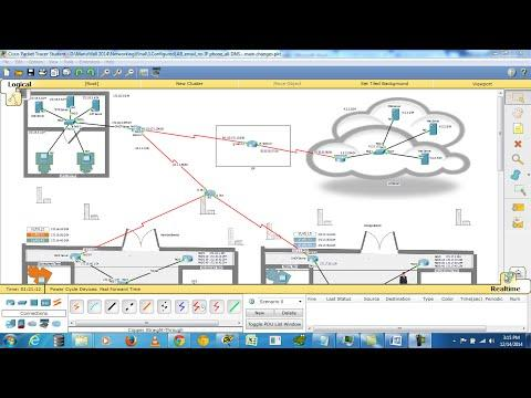 Enterprise Network Design In CISCO Packet Tracer (6.1.1)