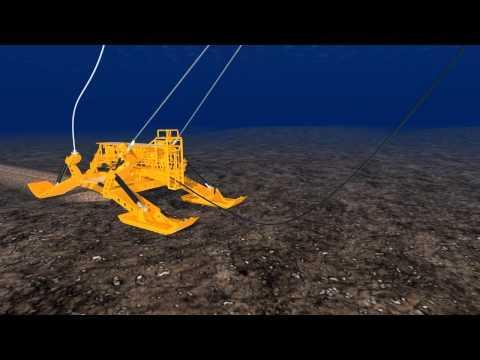 TE SubCom - Installation Animation - Undersea Fiber Optic Cable