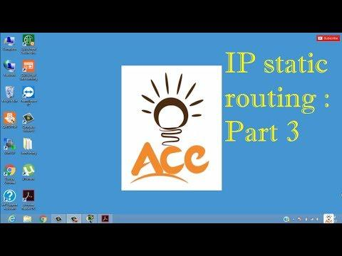 IP Static Routing | Part 3 | Computer Networks | Bsc I.T. | MCA