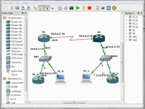 CCNA - Static Routing Configuration - GNS3 Simulation