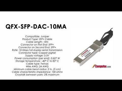 QFX-SFP-DAC-10MA  | Juniper Compatible SFP+ Direct Attach Active Cable 10m
