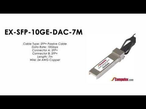 EX-SFP-10GE-DAC-7M  |  Juniper Compatible SFP+ Direct Attach Passive Cable 7m
