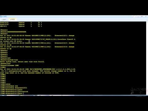 Configuring VLAN's & Trunks On Huawei Switches(HCDA Level)