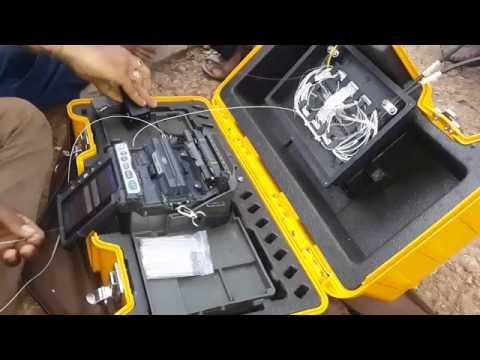 Splicing Of Fiber Optic Cable With Spliter