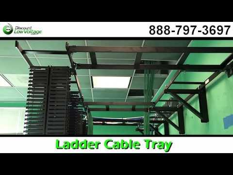 Ladder Cable Tray For Cat5e, Cat6 Fiber Cable Management