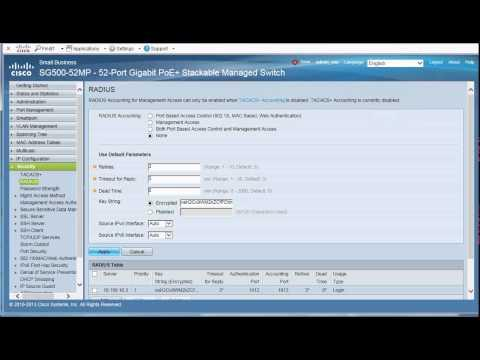 Sx300 / Sx500 Switch Management Access Using Windows AD And Cisco Identity Services Engine