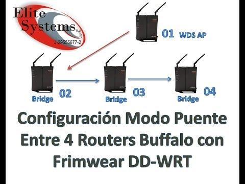 Tutorial De Configuración Modo Puente (Bridge) De Varios Routers Simultáneos Buffalo Con DD-WRT
